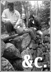 Me, Beth and Scott Geocaching